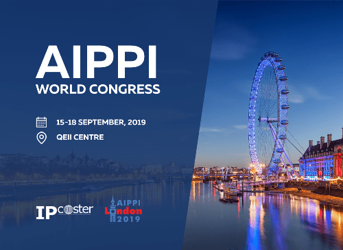 We are pleased to announce that IP-Coster is exhibiting at the AIPPI World Congress in London, United Kingdom between 15th and 18th September 2019